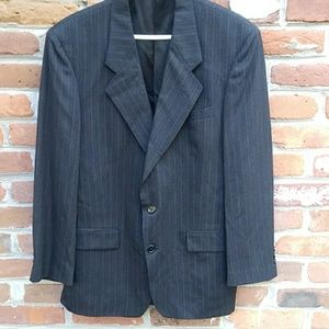 NEW Christian Dior Dark Gray Pinstripe Wool Blazer